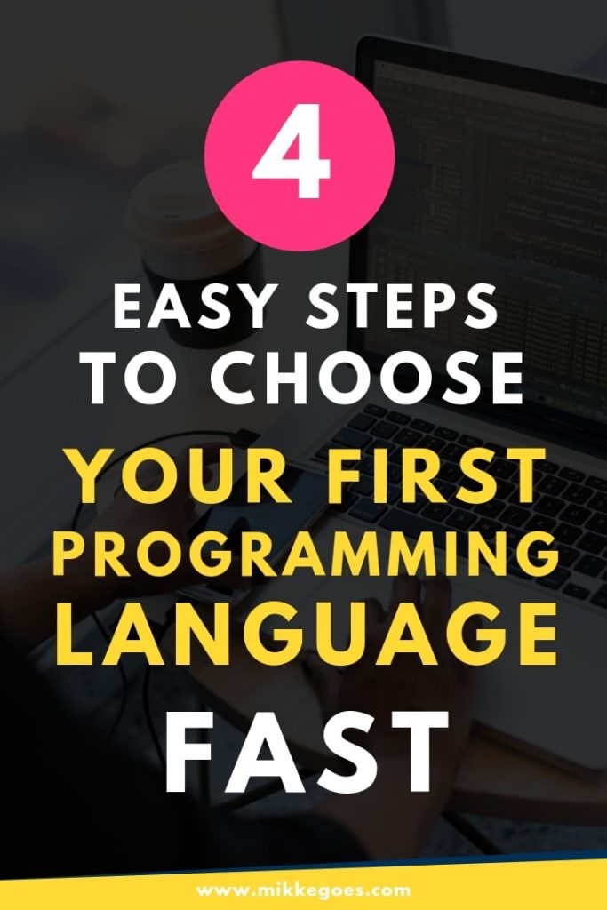 How to choose your first programming language fast - Coding and web development for beginners