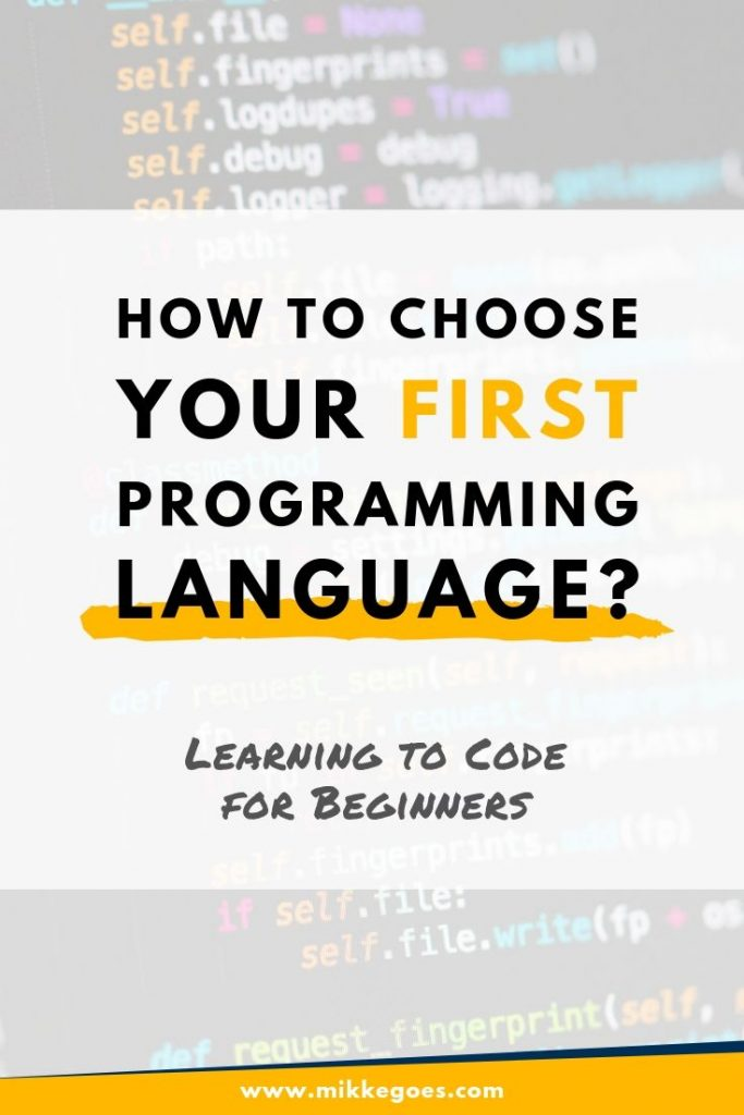 How to pick your first programming language to learn?