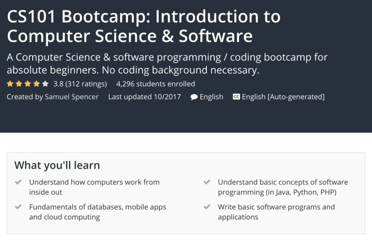 Learning Computer Science Basics - CS101 Bootcamp Udemy 01