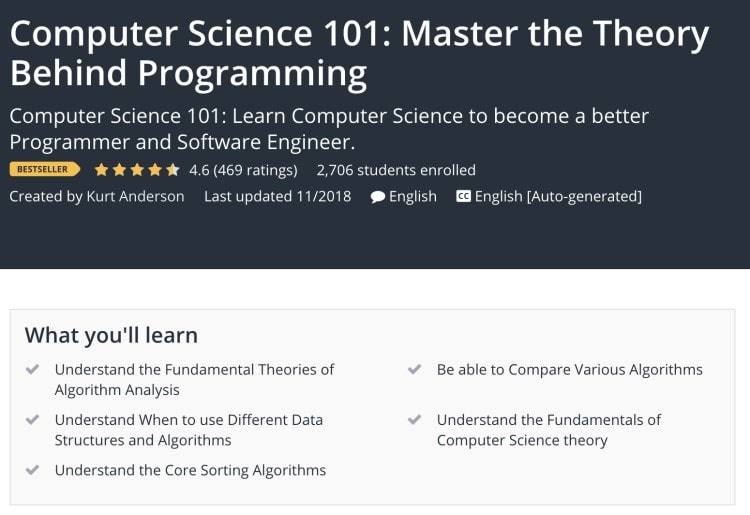 Learning Computer Science Basics - Computer Science 101 Udemy