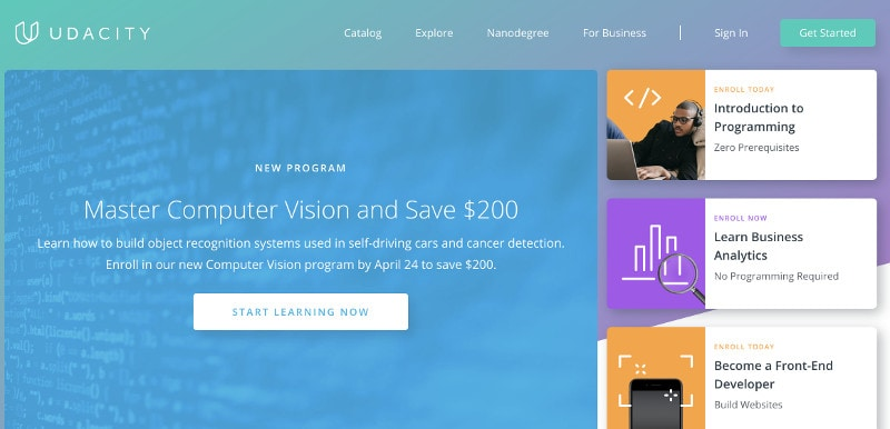 Learn coding and web development online: Udacity