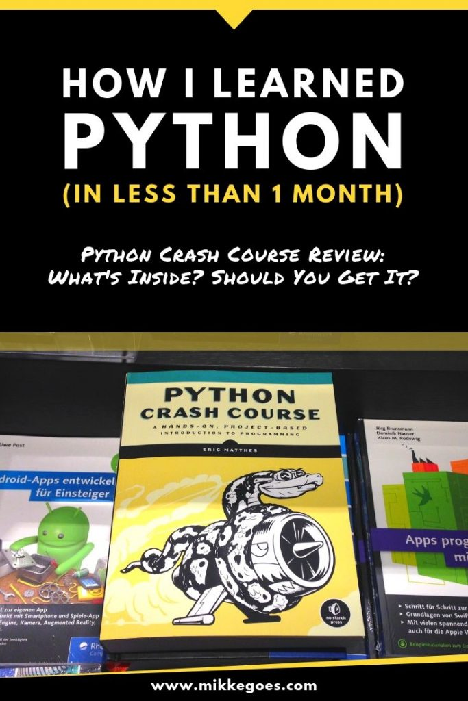 How I learned Python with Python Crash Course in less than a month