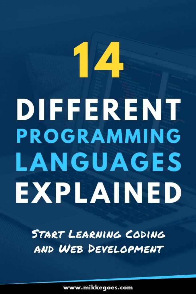 14 different programming languages explained - Start learning coding and web development