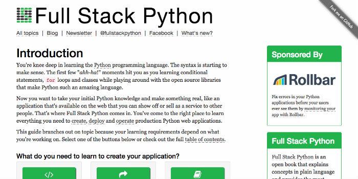 Learn Python Online - Full Stack Python