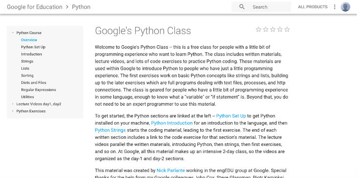 Learn Python Online - Google's Python Class