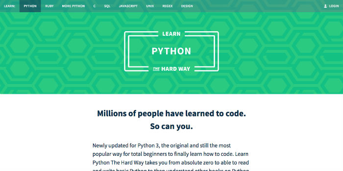 Learn Python Online - Learn Python The Hard Way LPTHW