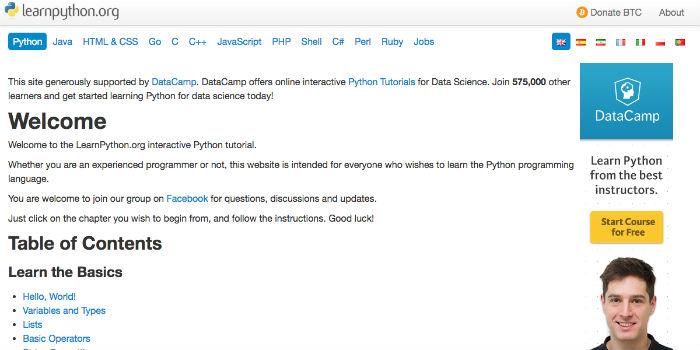 Learn Python Online - LearnPython.org