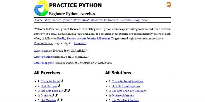 Learn Python Online - Practice Python
