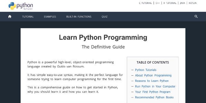 Learn Python Online - Learn Python Programming at Programiz