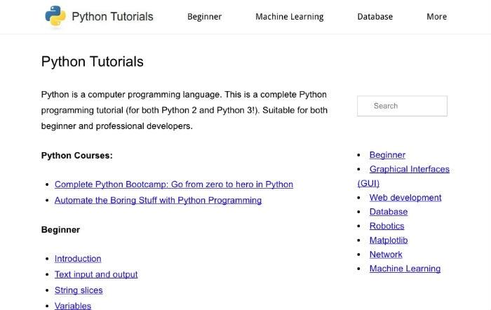 Learn Python Online - Pythonspot Python Tutorials
