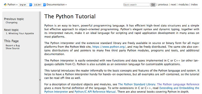 Learn Python Online - The Python Tutorial at Python.org