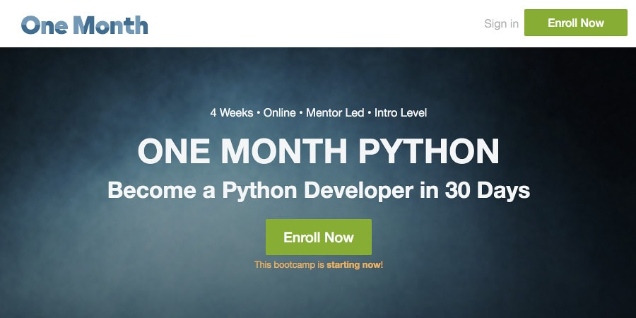 Learn Python online: One Month Python bootcamp for beginners
