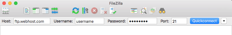 How to Quickconnect in Filezilla