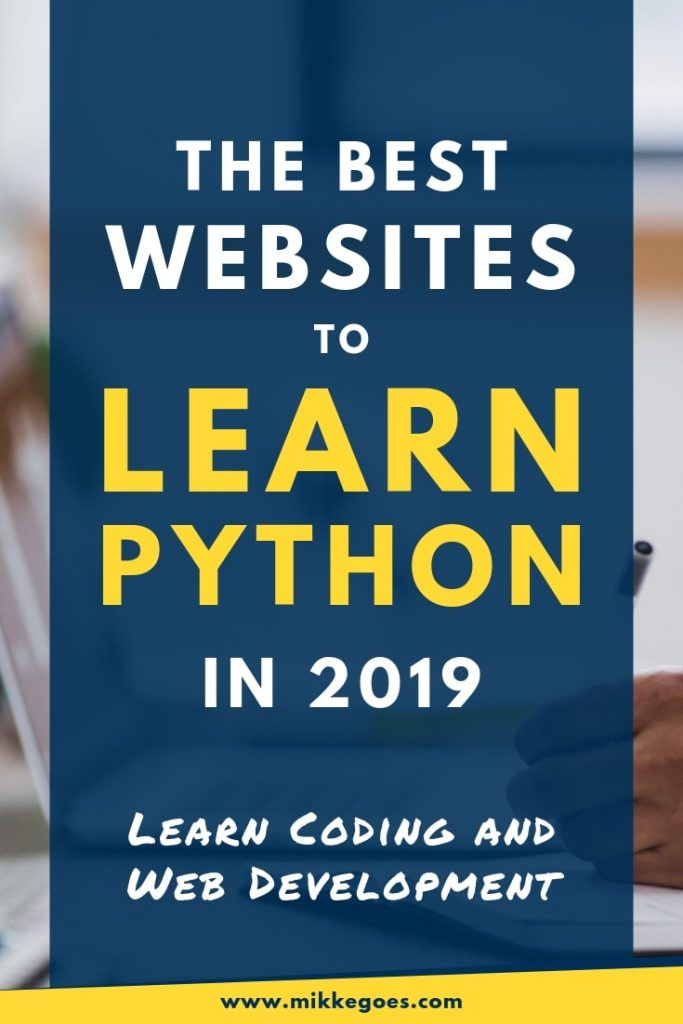 The best websites to learn Python programming for beginners in 2019