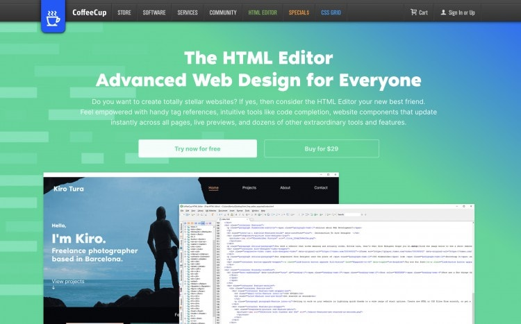 Coffeecup HTML Editor - Text editors for web development