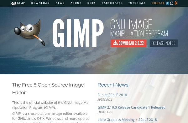 Free photo editor: GIMP - GNU Image Manipulation Program
