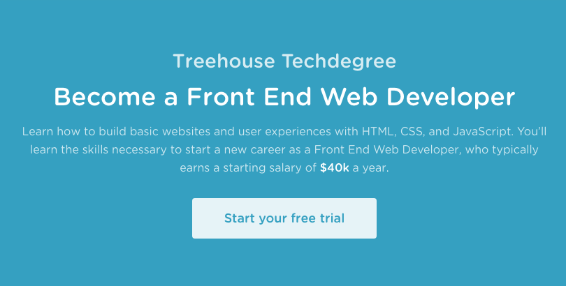 Treehouse Techdegree: Front End Web Developer