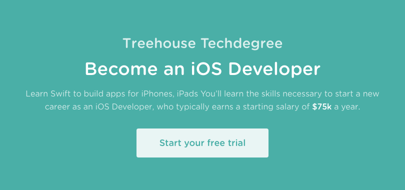 Treehouse Techdegree: iOS Developer