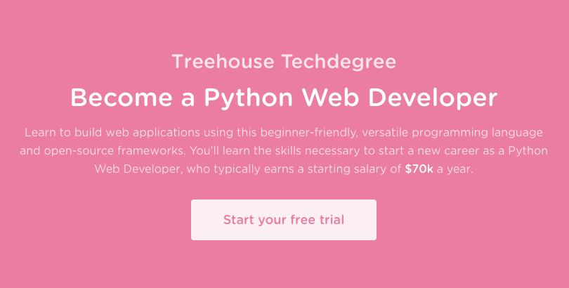 Treehouse Techdegree: Python Web Developer