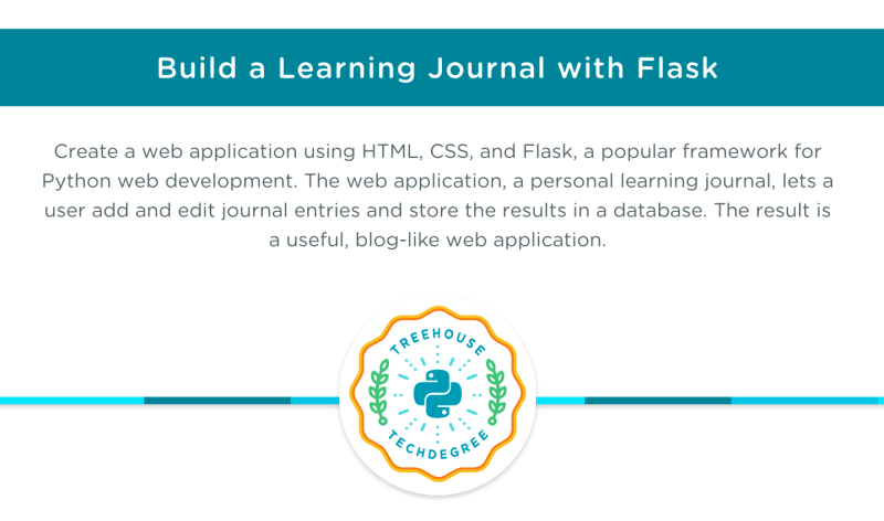 Build a learning journal web application with Flask - Python Techdegree final project