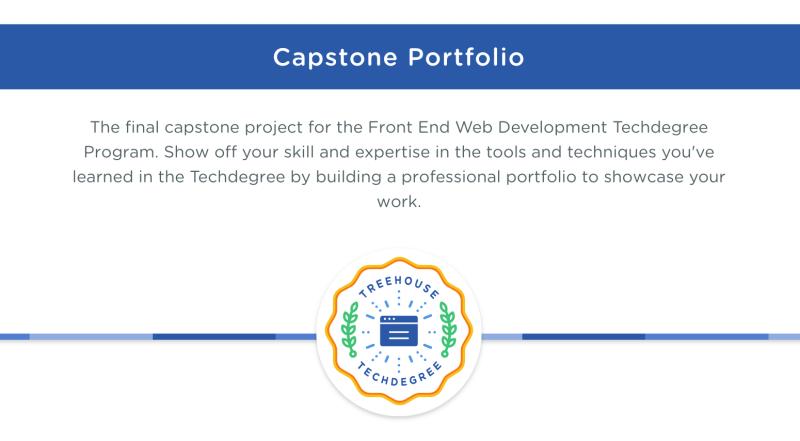 Final Portfolio project for the Front End Web Development Techdegree program