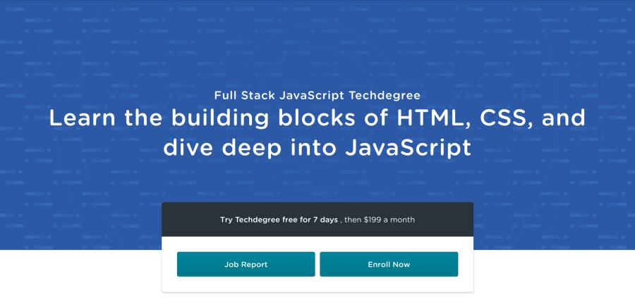 Full Stack JavaScript Techdegree