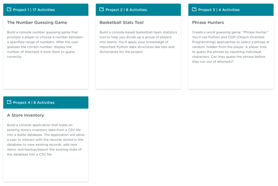 Python Techdegree projects