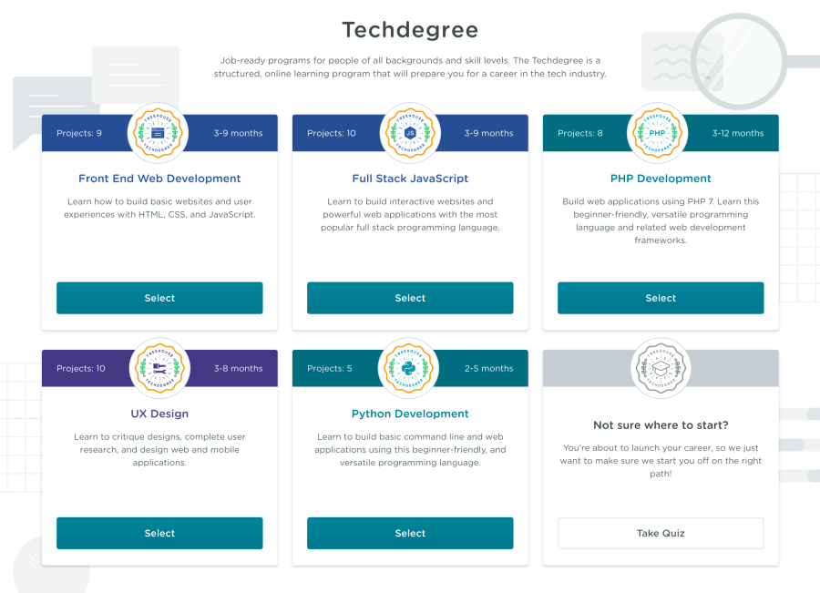 Treehouse Techdegree review - What skills can you learn