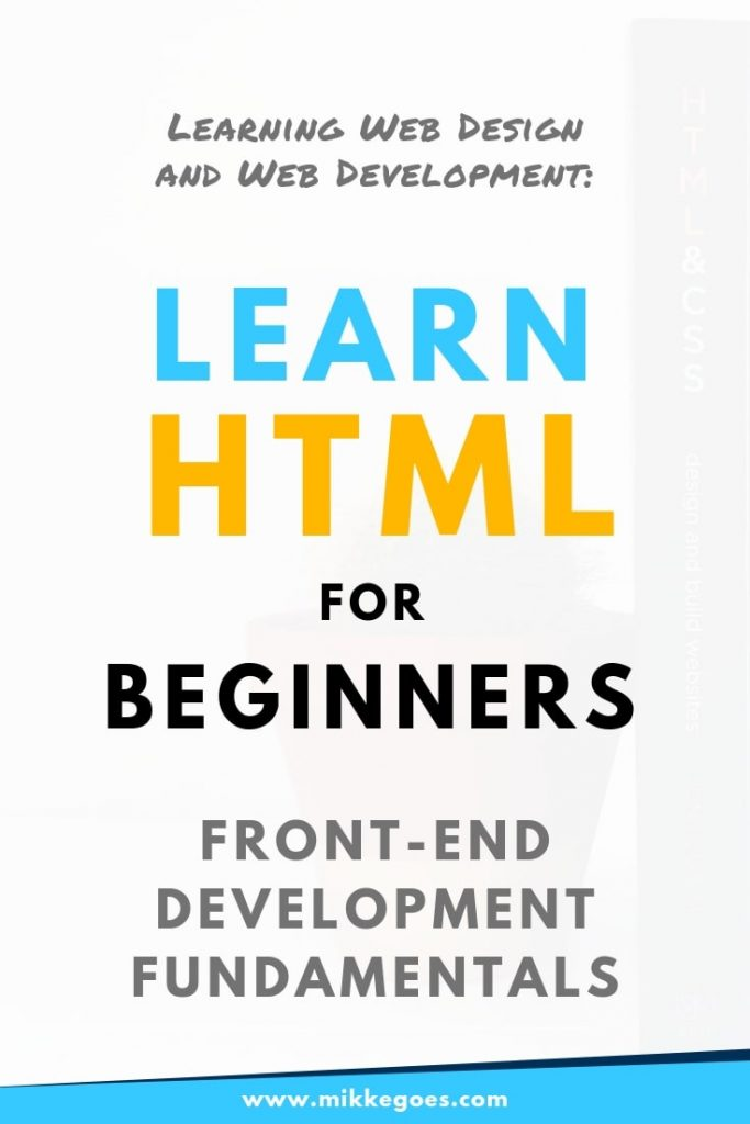 Learn HTML and CSS for beginners - Front-end Development Fundamentals