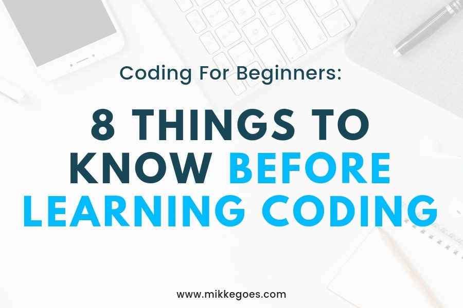 8 Things to Know Before Learning Programming