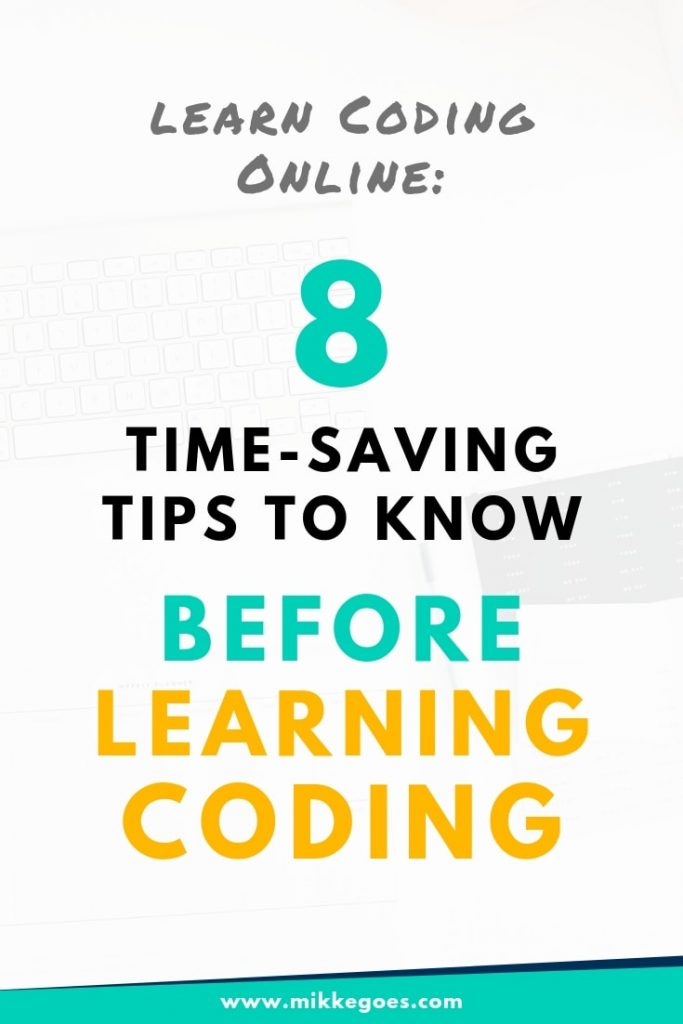 How to learn coding online? Check out these 8 useful things to know before learning programming to learn to code faster