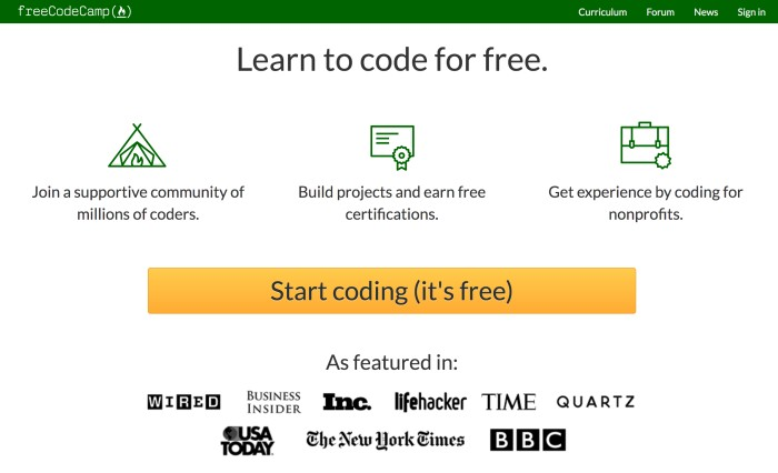 Best Websites to Learn Coding and Web Development for Beginners - freeCodeCamp