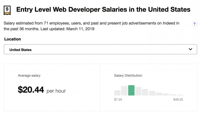 How much do web developers make - Average web developer salary 2019 - Entry level web developer salary in the US