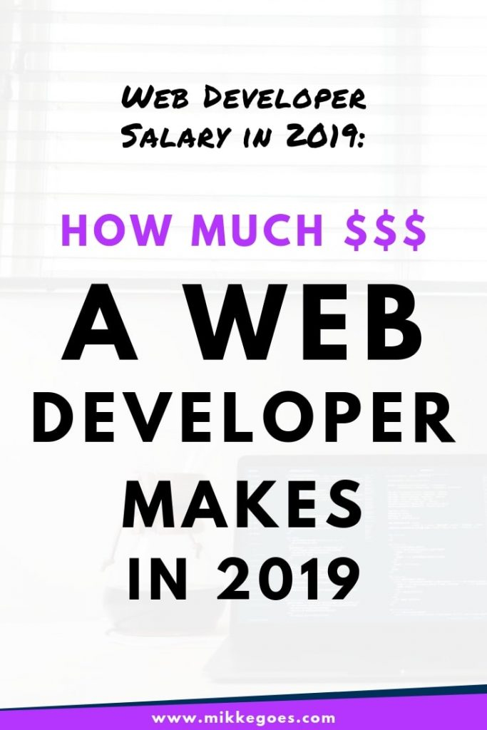 How much does a web developer make in 2019?