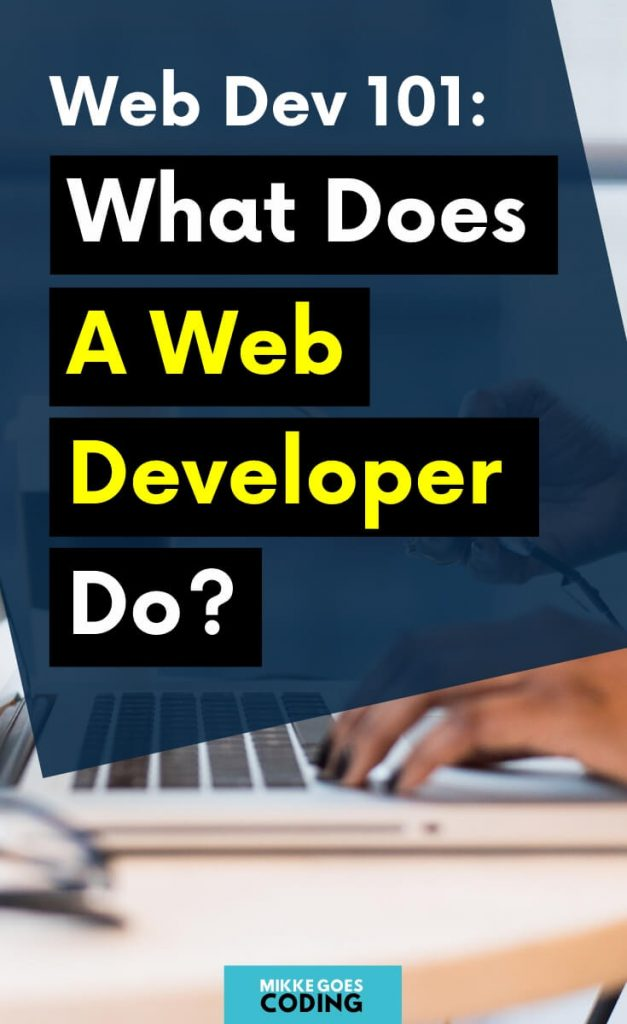 What does a web developer do exactly? Beginners guide
