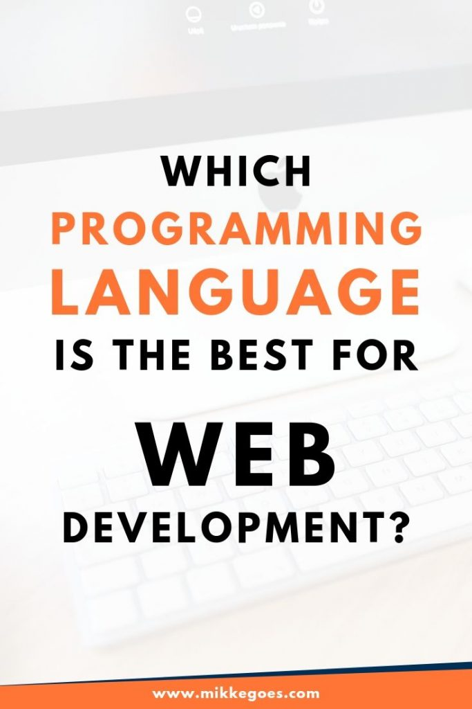 Which programming language should you learn for web development in 2019?