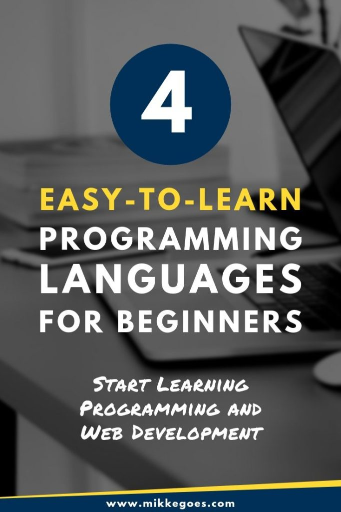 4 easy and in-demand programming languages - Learning coding for beginners