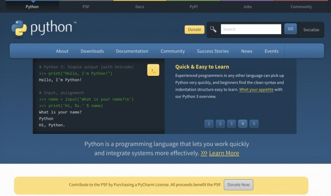 Python - Top coding languages for beginners
