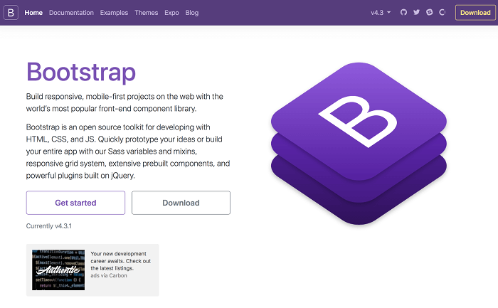 Bootstrap - Build your portfolio website
