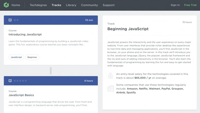 Learn JavaScript for Beginners - Treehouse Beginner JavaScript Track