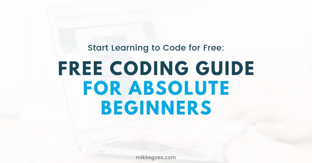 Free Coding Guide for Beginners - Learn programming and web development for free