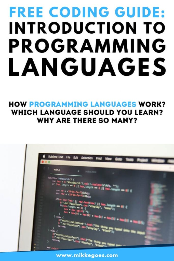 Introduction to programming languages - Teach yourself to code for free