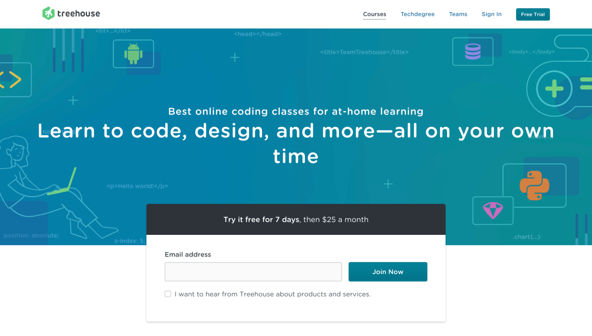 Best websites to learn how to code: Team Treehouse