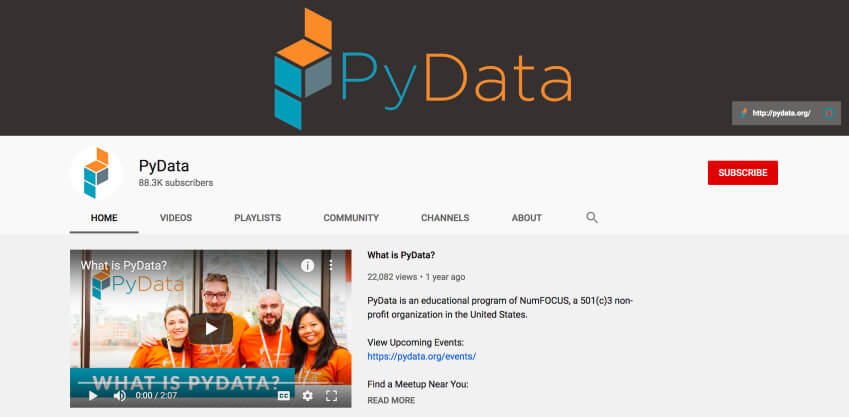 How to learn Python online for free - PyData YouTube channel
