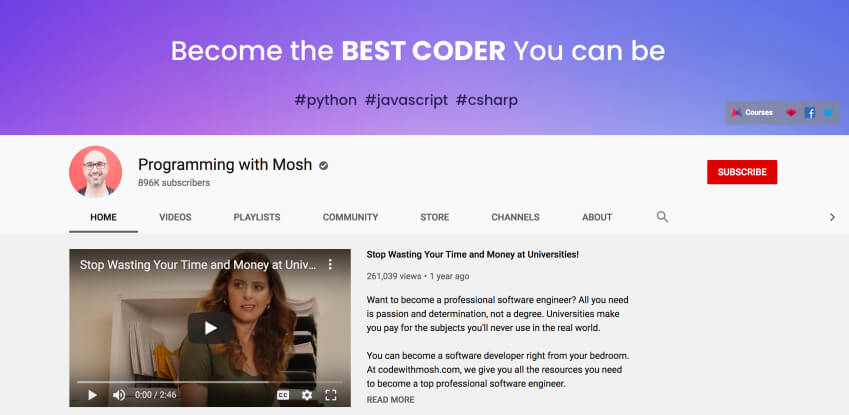 Python coding for beginners - Programming with Mosh