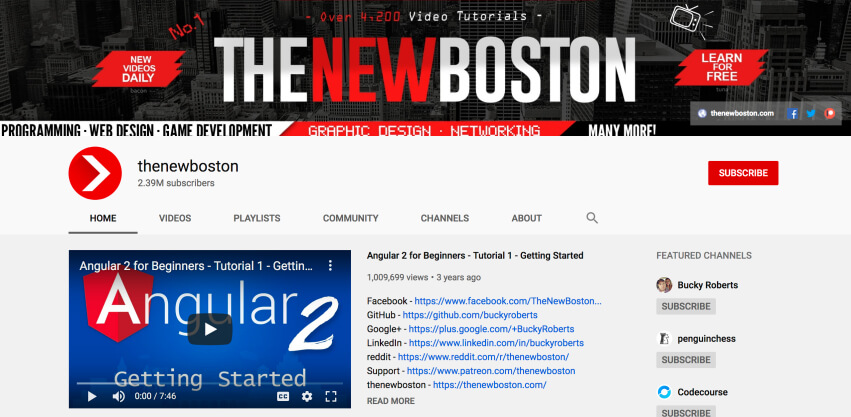 thenewboston - Learn to code on YouTube