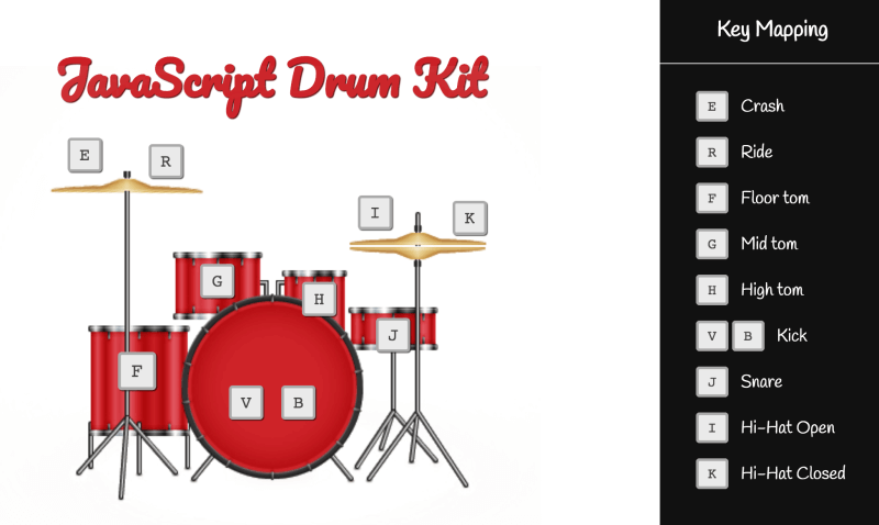 JavaScript drum kit project