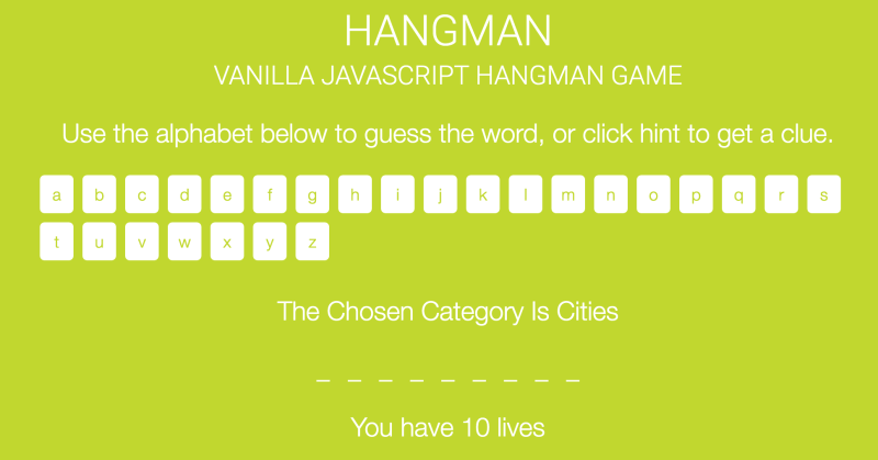 JavaScript hangman game