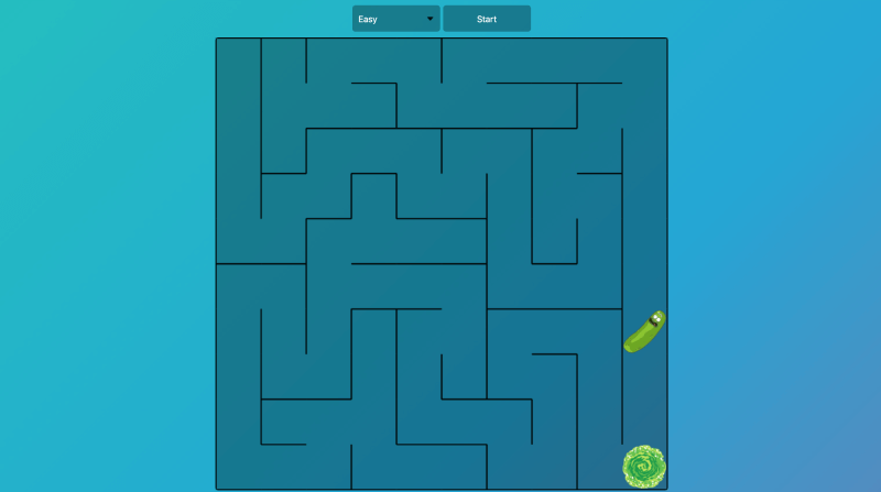 JavaScript maze game project idea