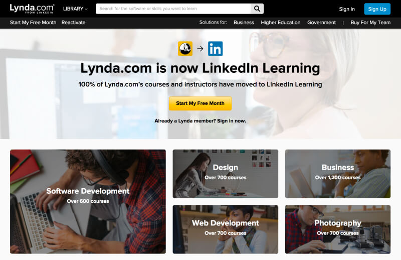 Lynda LinkedIn Learning - Learn Web Development Online